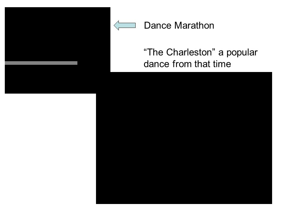 Dance Marathon The Charleston a popular dance from that time
