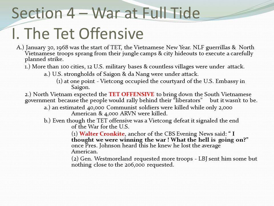 Section 4 – War at Full Tide I.