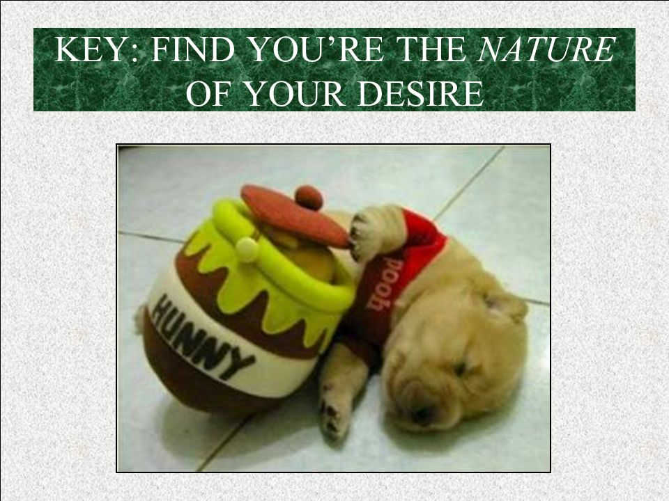 KEY: FIND YOU'RE THE NATURE OF YOUR DESIRE