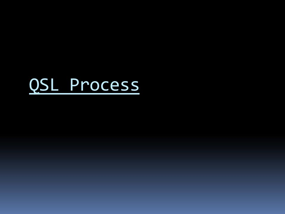 QSL Process