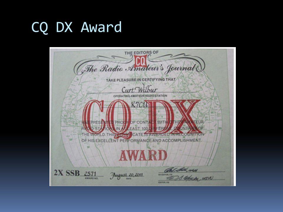CQ DX Award