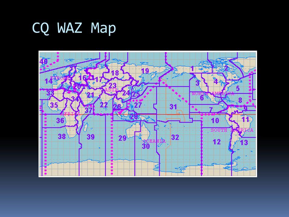 CQ WAZ Map