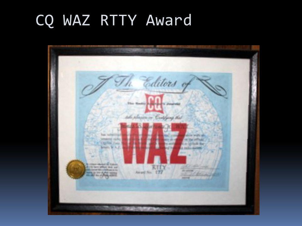 CQ WAZ RTTY Award