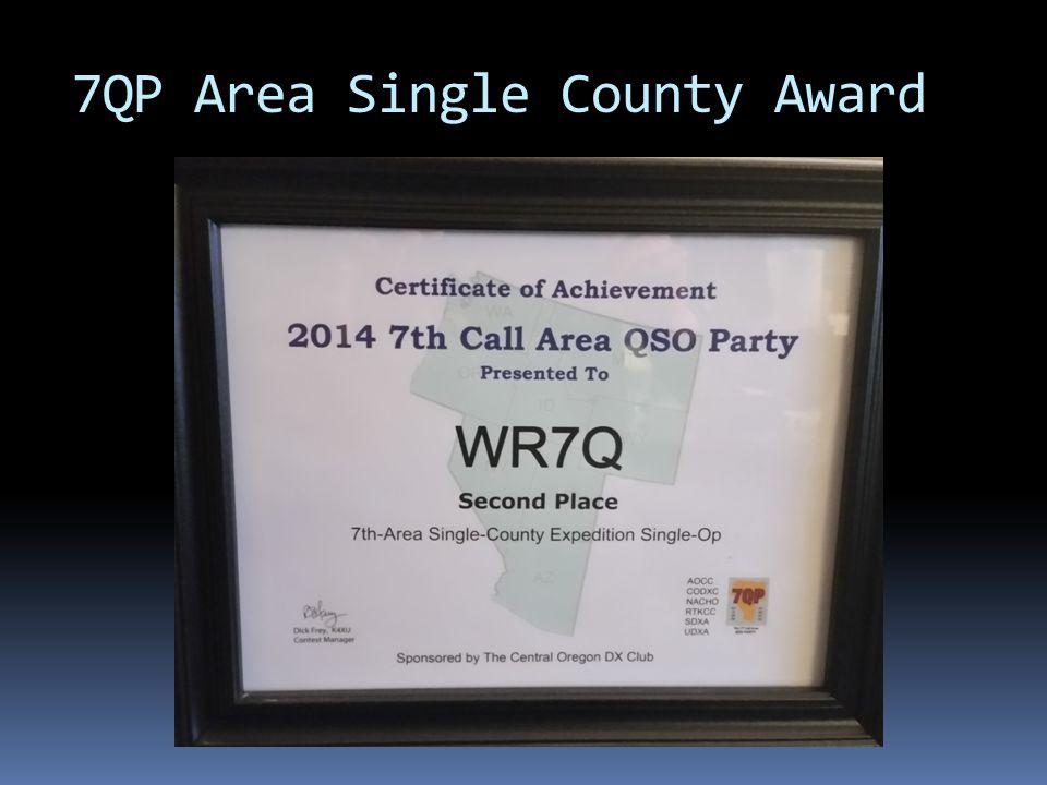 7QP Area Single County Award