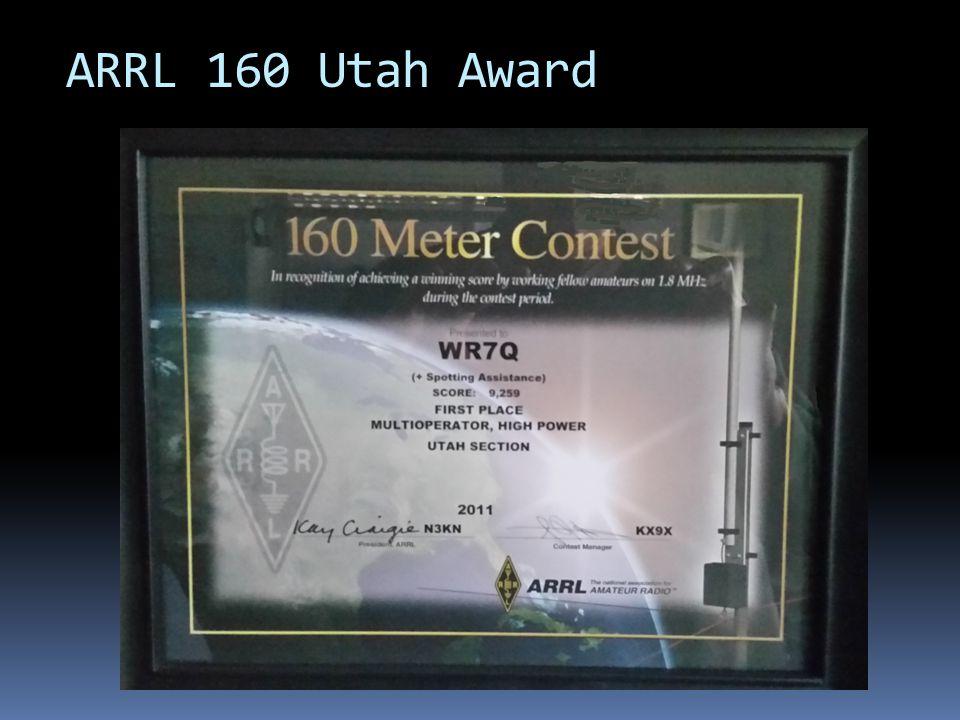 ARRL 160 Utah Award