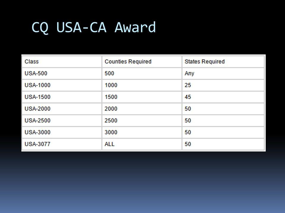 CQ USA-CA Award