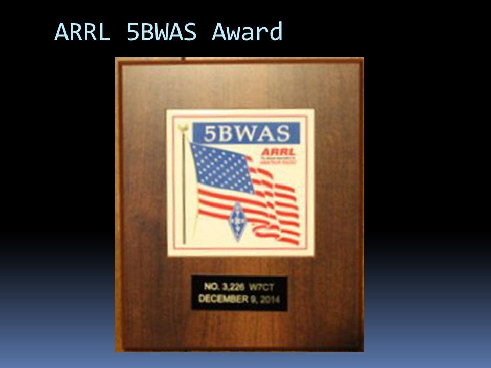 ARRL 5BWAS Award