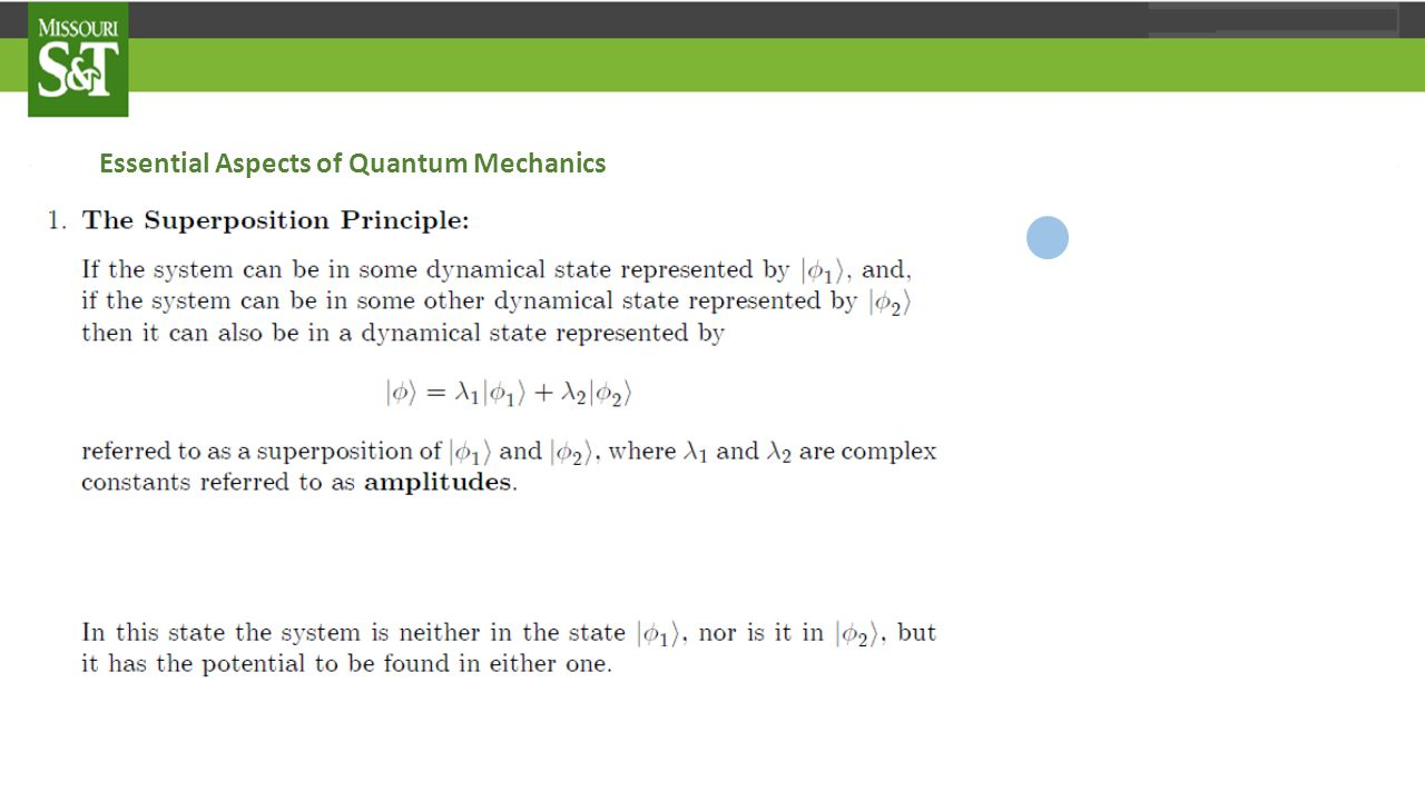Essential Aspects of Quantum Mechanics