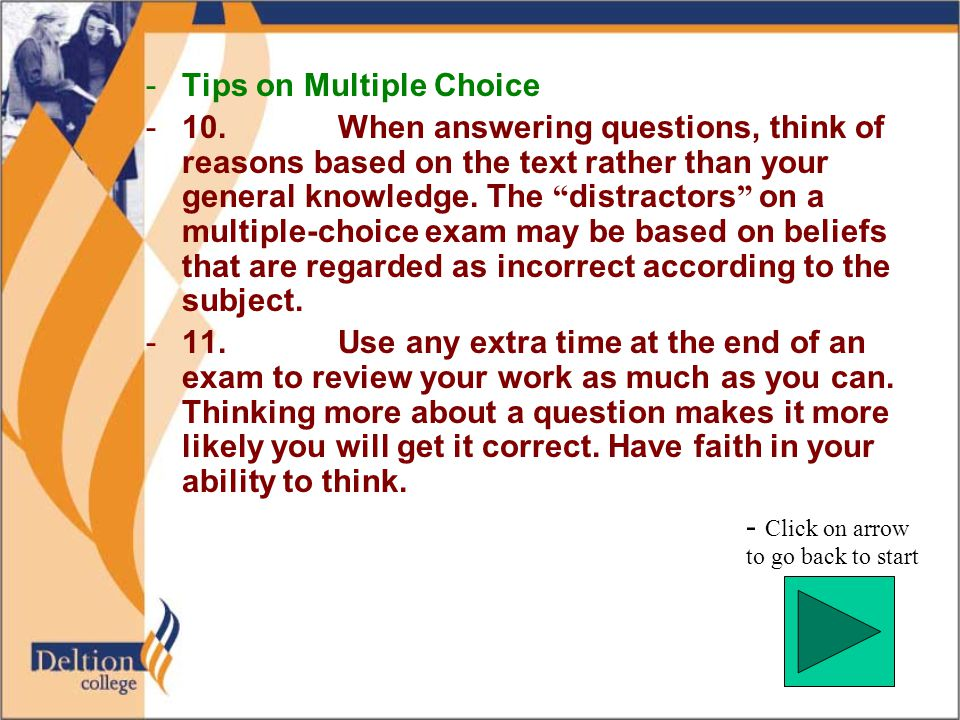 -Tips on Multiple Choice -10.
