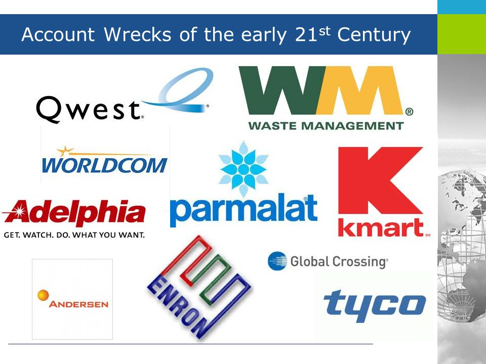 Account Wrecks of the early 21 st Century