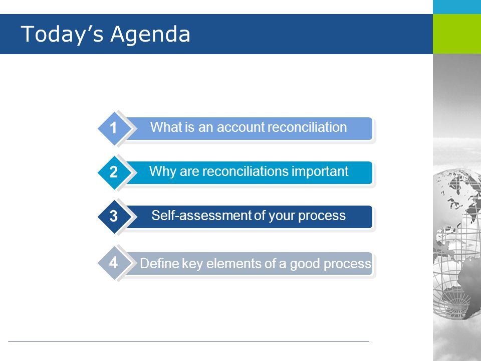 What is an account reconciliation.
