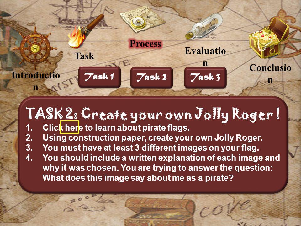 Introductio n Evaluatio n Conclusio n Task 1 Task 2 Task 3 TASK 2: Create your own Jolly Roger .