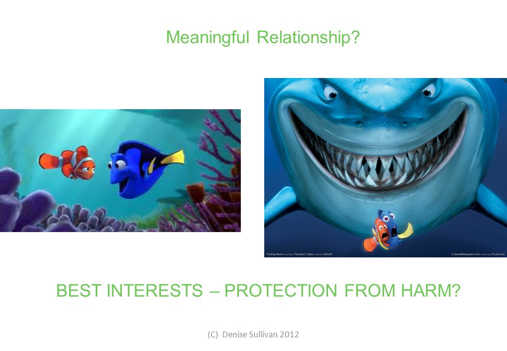 Meaningful Relationship? BEST INTERESTS – PROTECTION FROM HARM?