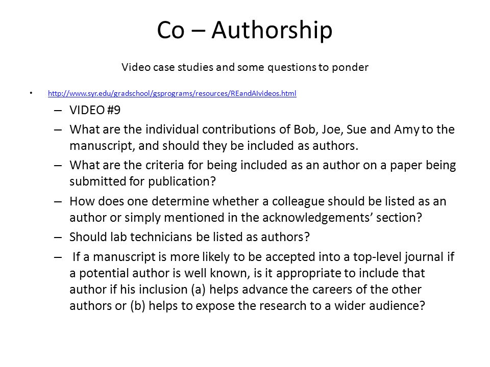 ESA on Authorship From Office of Research Integrity Newsletter – Volume 17, No.
