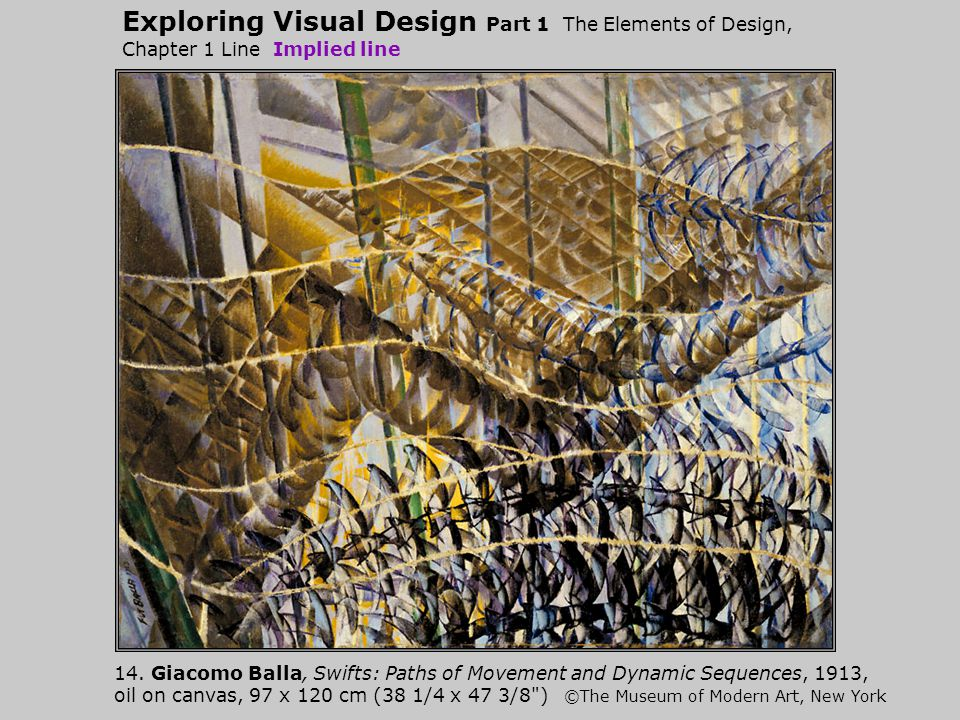 Exploring Visual Design Part 1 The Elements of Design, Chapter 1 Line Implied line 14.