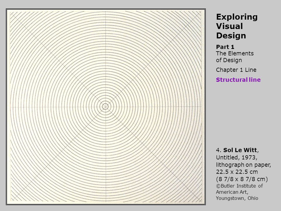 Exploring Visual Design Part 1 The Elements of Design Chapter 1 Line Structural line 4.