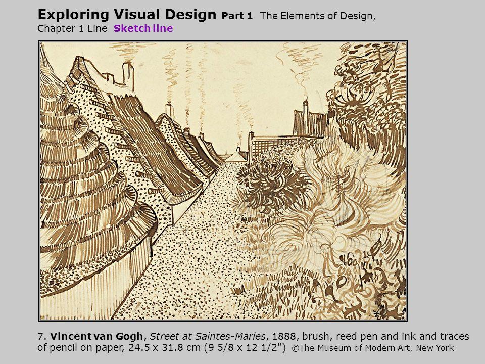 Exploring Visual Design Part 1 The Elements of Design, Chapter 1 Line Sketch line 7.