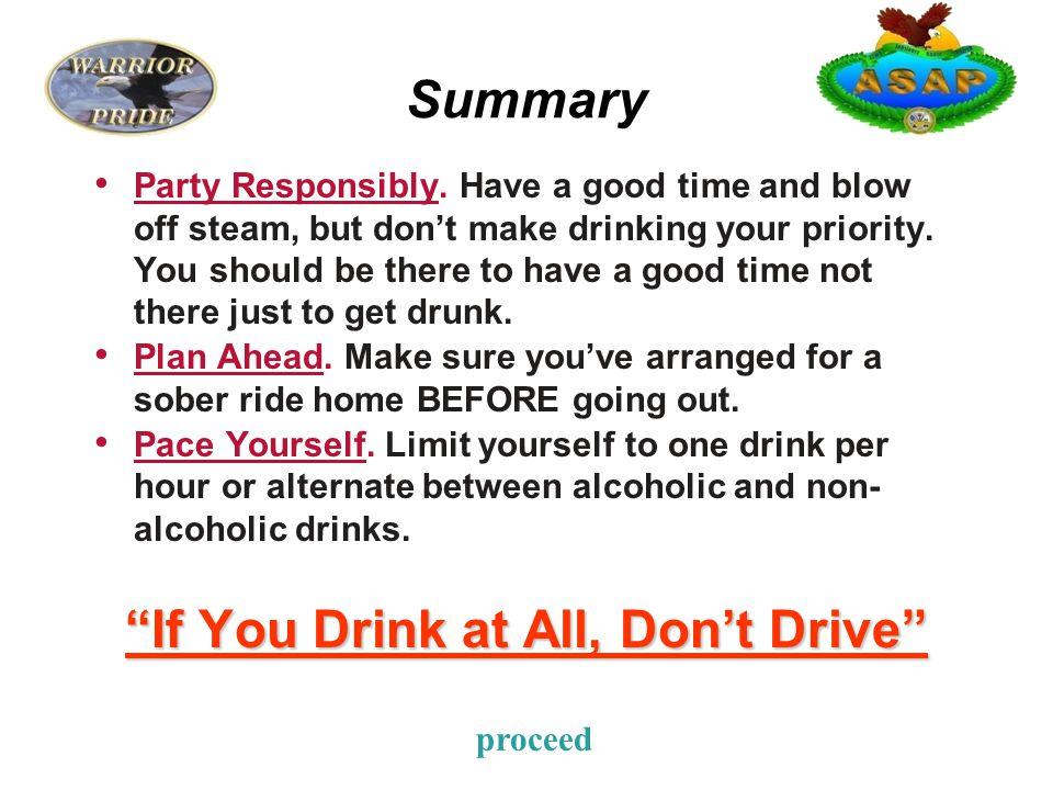 Summary Party Responsibly.