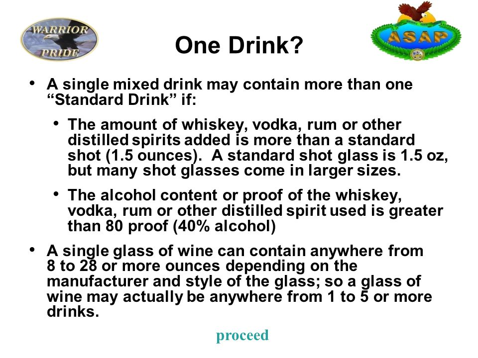 One Drink.