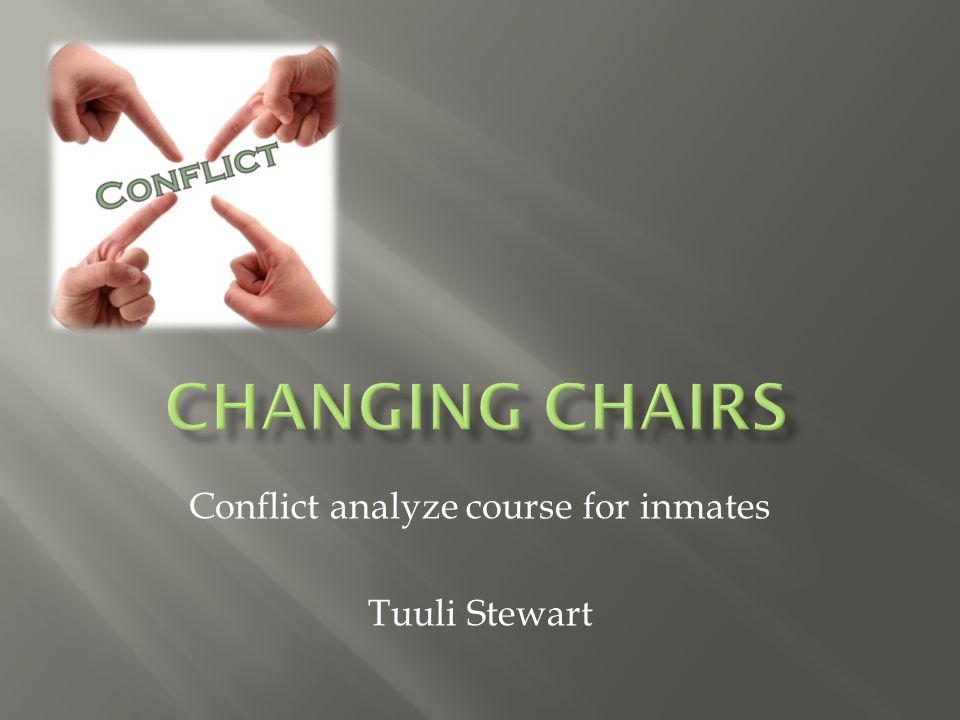 Conflict analyze course for inmates Tuuli Stewart