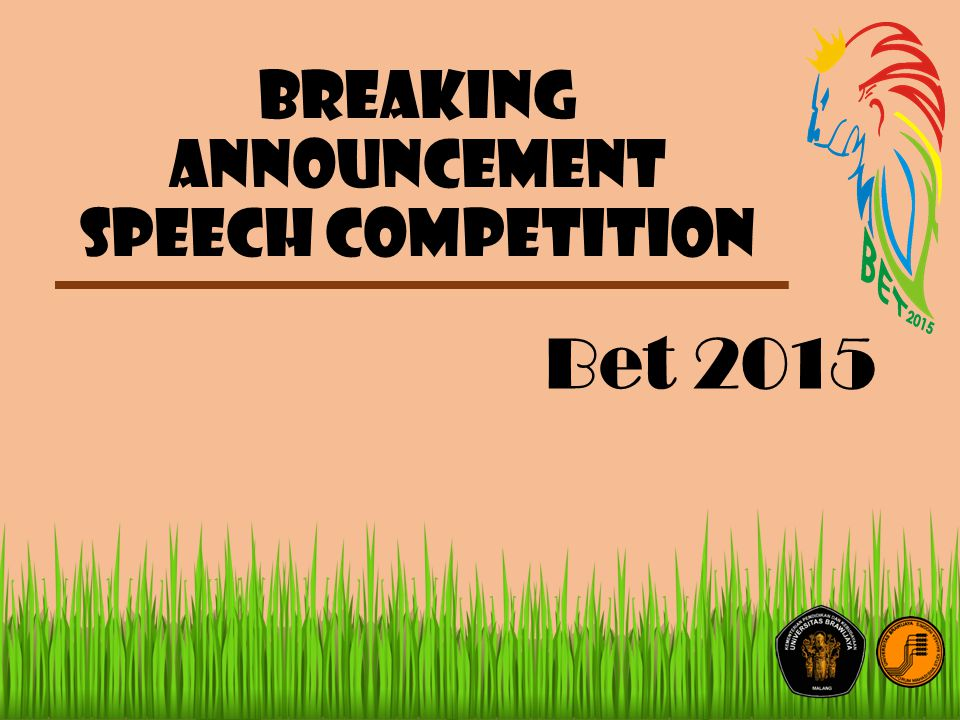 Breaking announcement speech competition Bet 2015