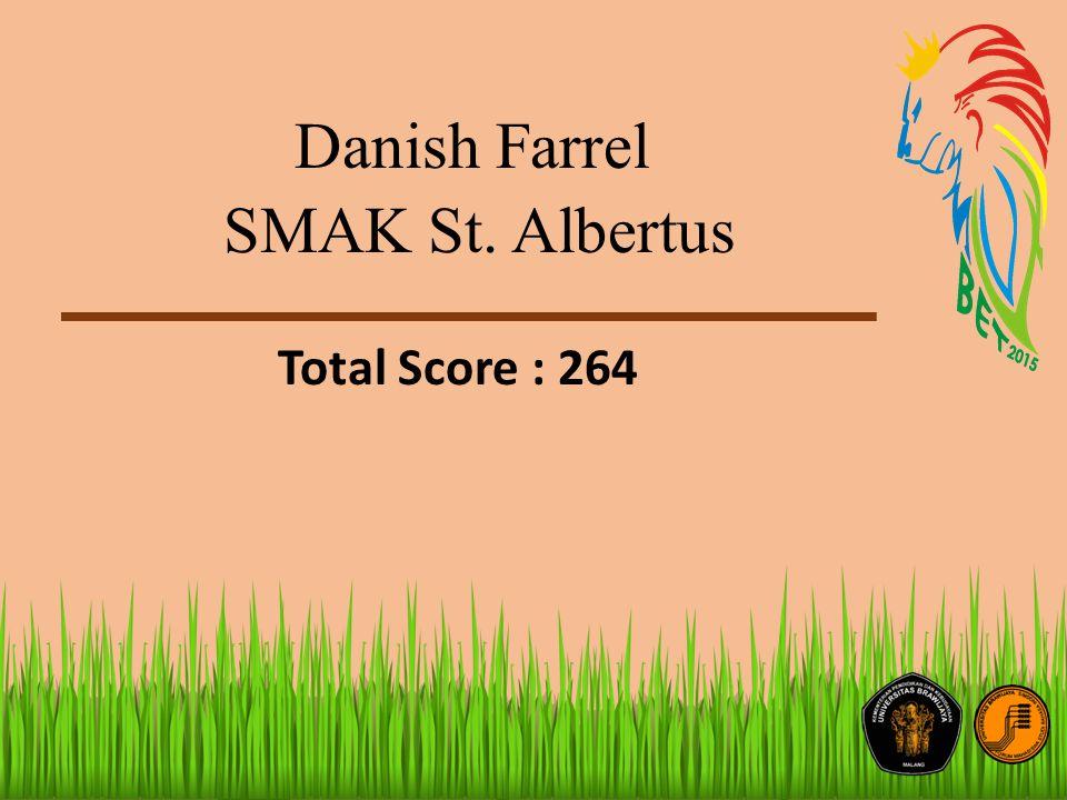 Danish Farrel SMAK St. Albertus Total Score : 264