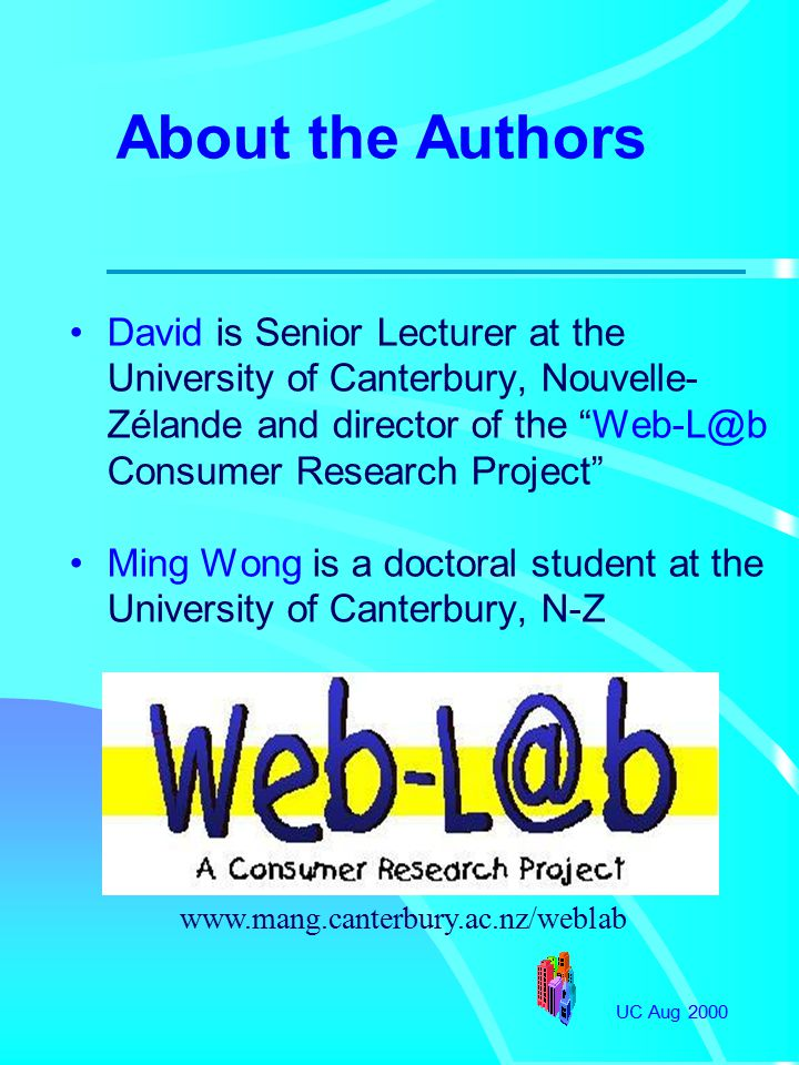 UC Aug 2000 Agenda Effects of Web Advertising Conceptual Model Methodology Results Discussion