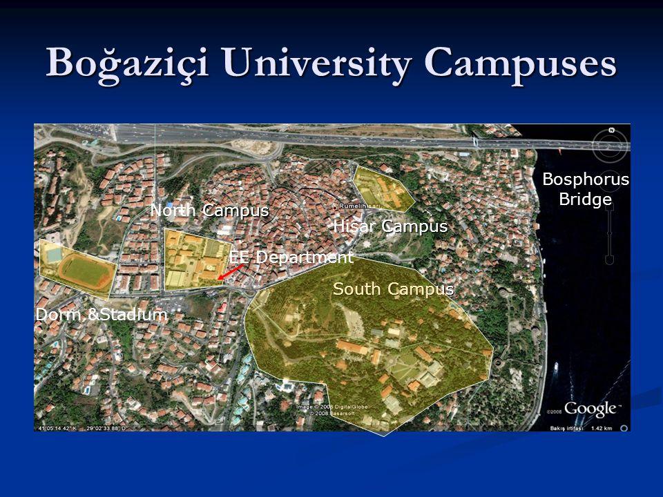 Boğaziçi University Campuses South Campus Campus North Campus Campus Hisar Campus Dorm.&Stadium EE Department BosphorusBridge