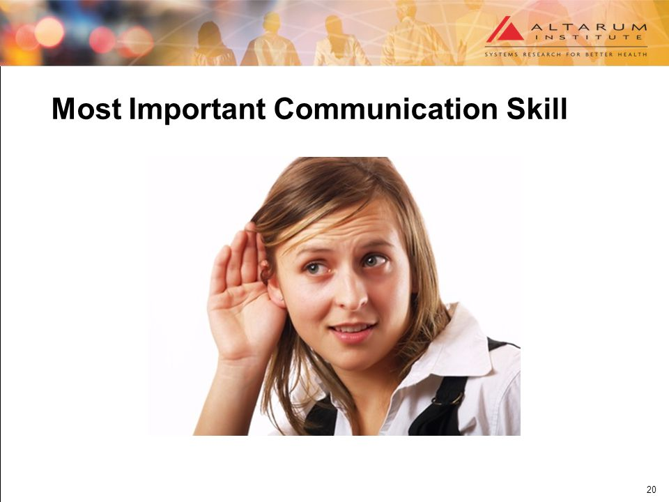 20 Most Important Communication Skill
