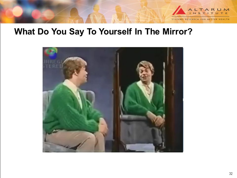 32 What Do You Say To Yourself In The Mirror