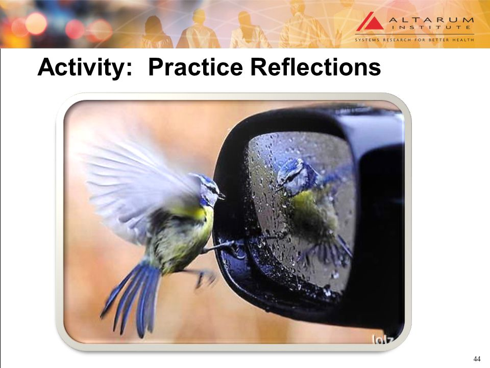 44 Activity: Practice Reflections