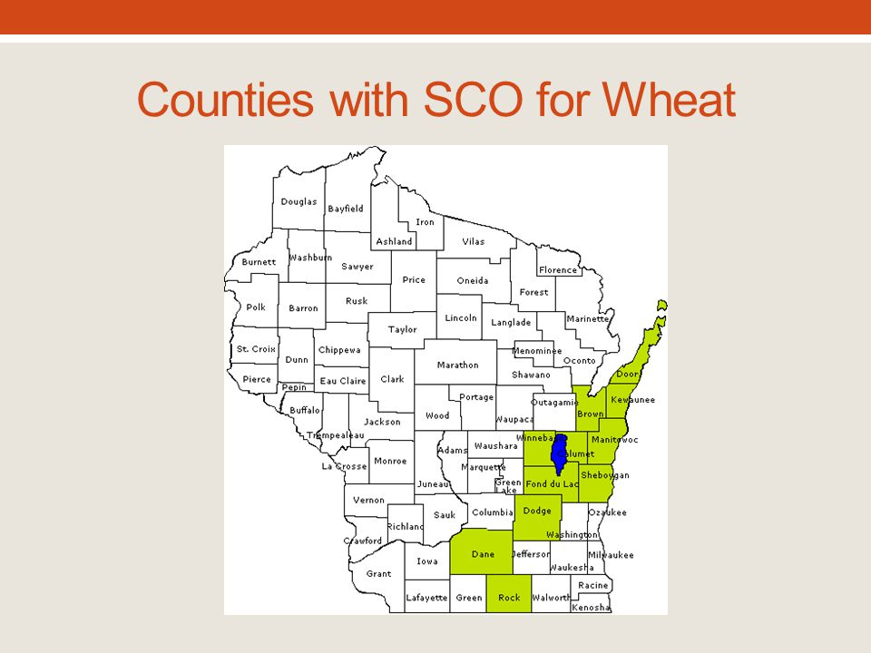 Counties with SCO for Wheat