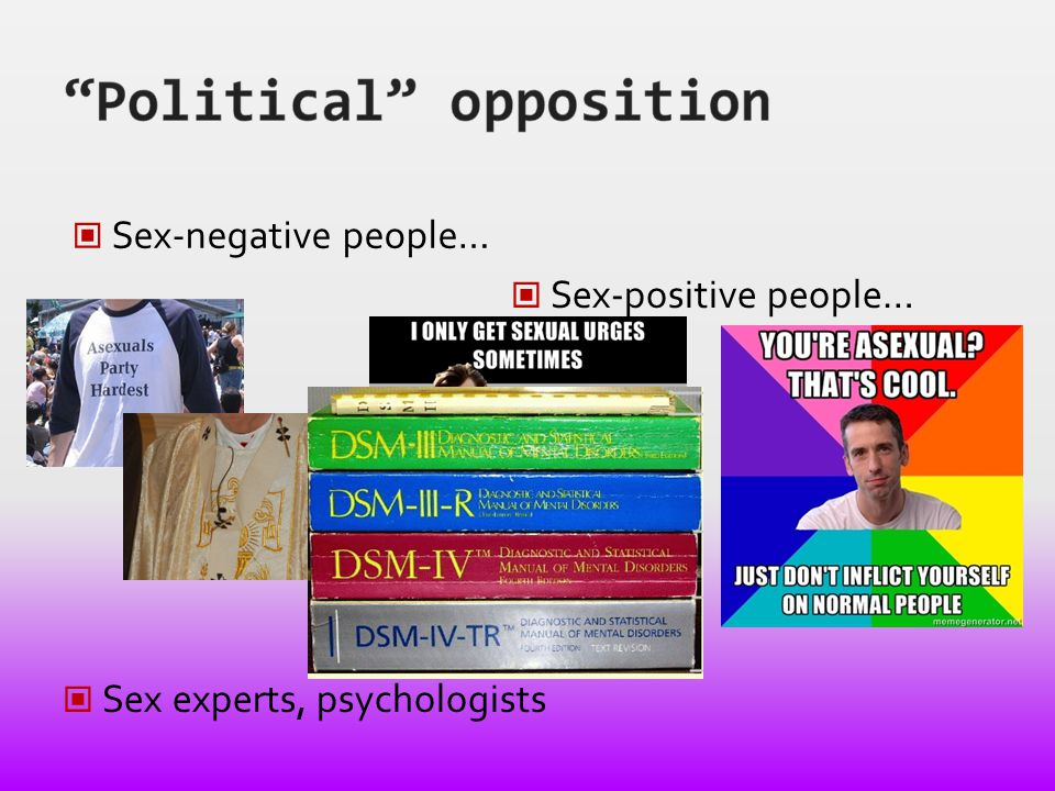 Sex-negative people… Sex-positive people… Sex experts, psychologists