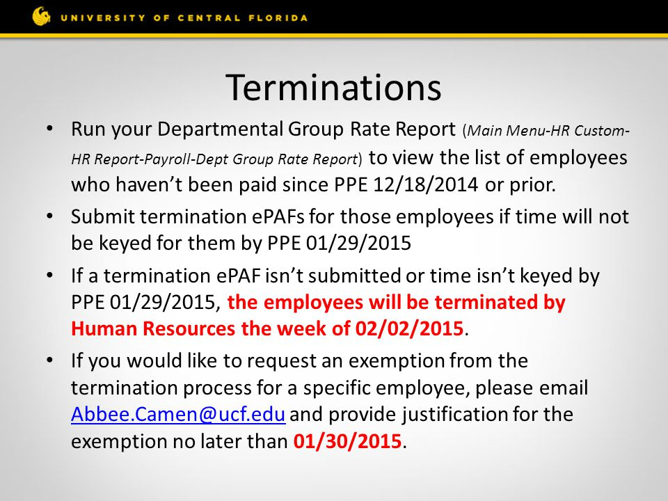 Student to Non-Student (OPS Hourly or Adjunct) If an active student employee has graduated or is no longer in an UCF degree seeking program and will continue to work for your department, an ePAF with the SSA-1945 Form, needs to be submitted to change them to non-student status.