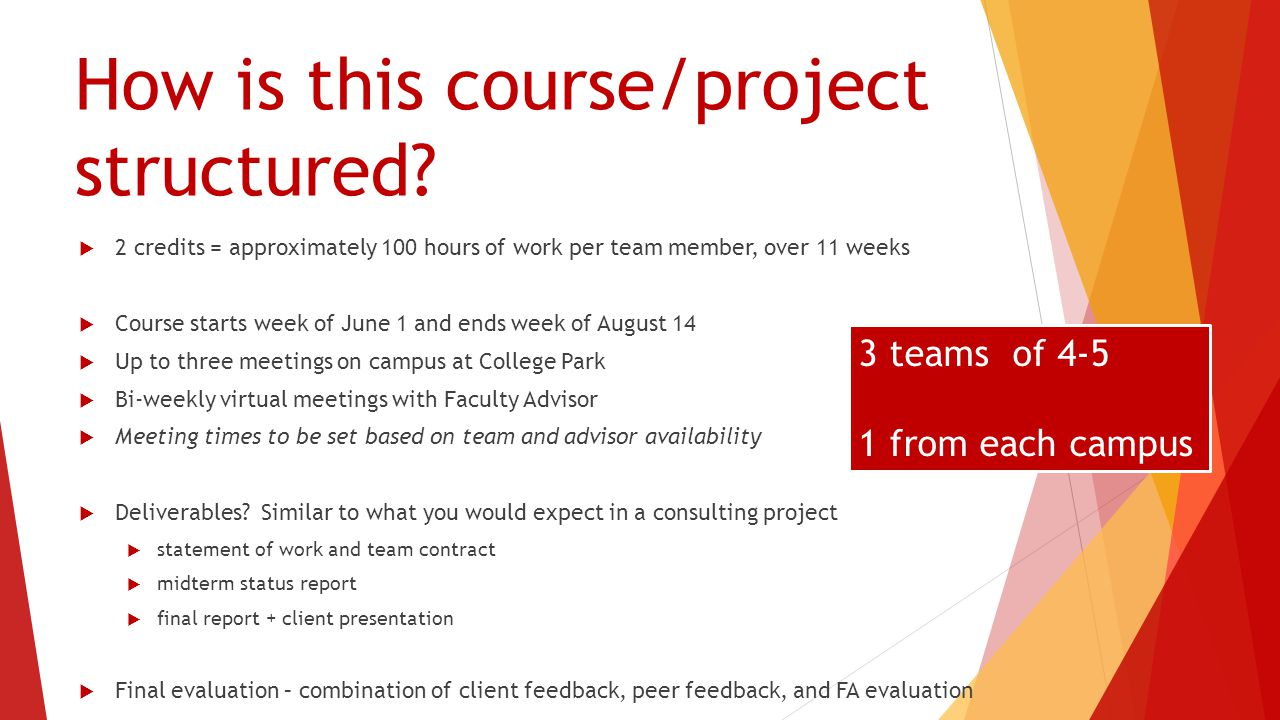 Application Process & Key Dates Application materials can be found on Summer 2015 Registration Networth page: (https://networth.rhsmith.umd.edu/pt-mba-consulting-practicum)https://networth.rhsmith.umd.edu/pt-mba-consulting-practicum Applications accepted: Feb 13 th to Feb 23 rd Applicant screening conducted: Feb 20 th to March 2 nd Offers to PT MBAs made by: March 2 nd Students Accept Offers by: March 6 th 1.Complete Word-based application 2.Email Word-based application plus current resume to Neta (nmoye@rhsmith.umd.edu)nmoye@rhsmith.umd.edu 3.Access Interview Stream (weblink) and record two interview question responses (https://umd- collegepark.interviewstream.com/Account/Login?ReturnUrl=%2fhttps://umd- collegepark.interviewstream.com/Account/Login?ReturnUrl=%2f 4.Email link to your recordings to Neta