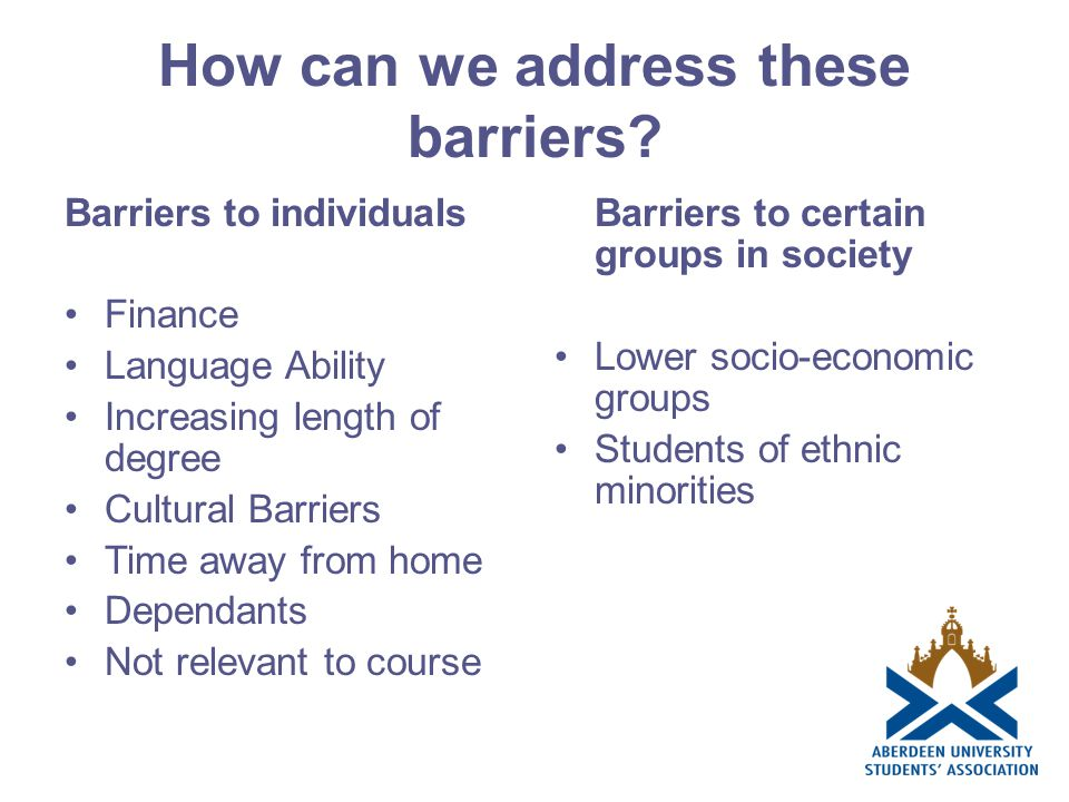 How can we address these barriers.