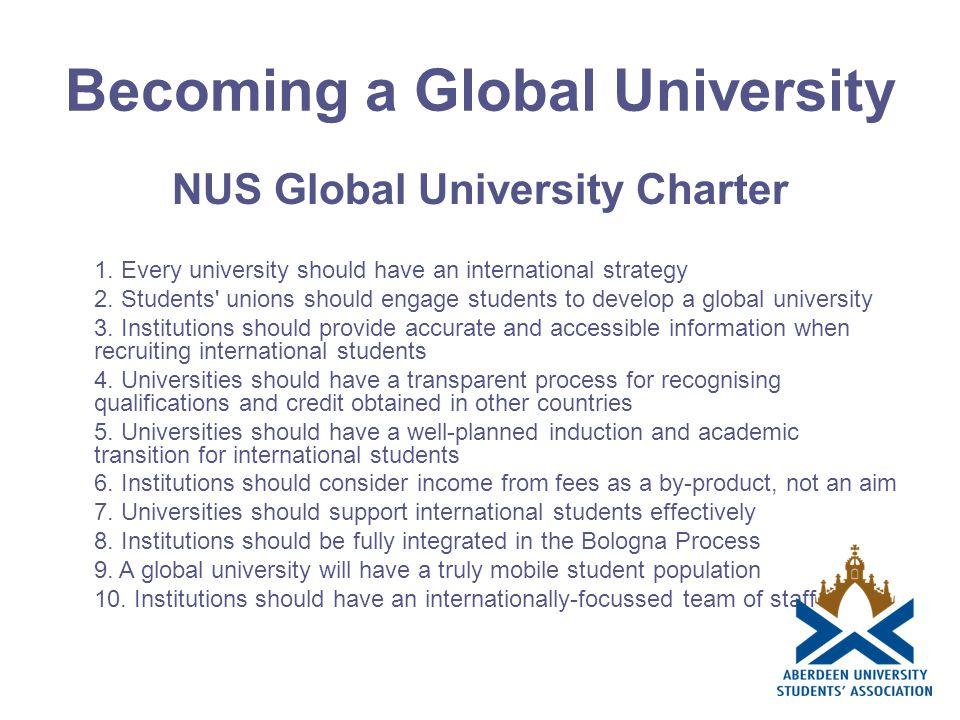 Becoming a Global University NUS Global University Charter 1.