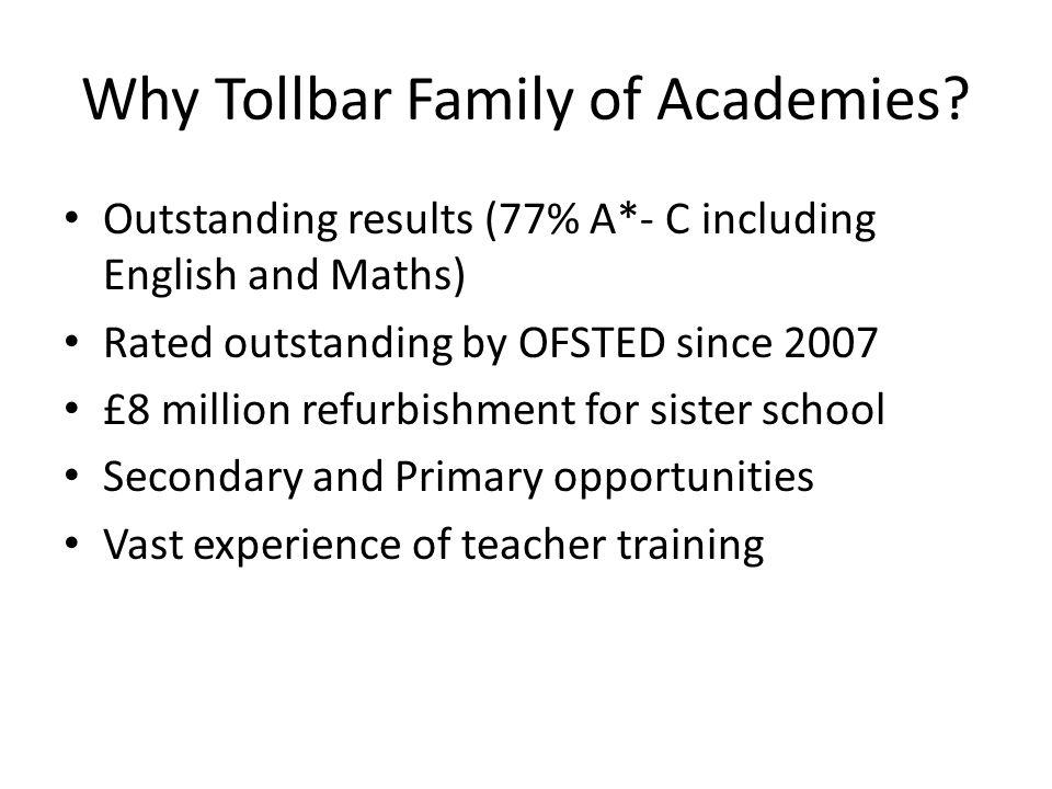 Why Tollbar Family of Academies.