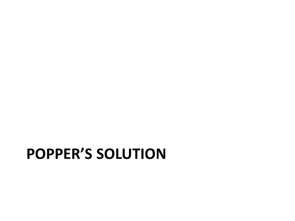 POPPER'S SOLUTION