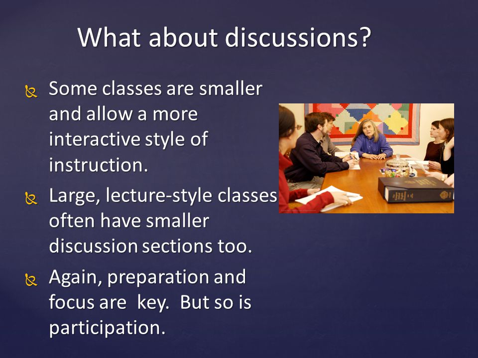 What about discussions.