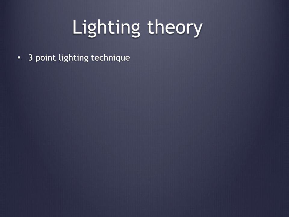 Lighting theory www.mediacollege.com/lighting/three-point