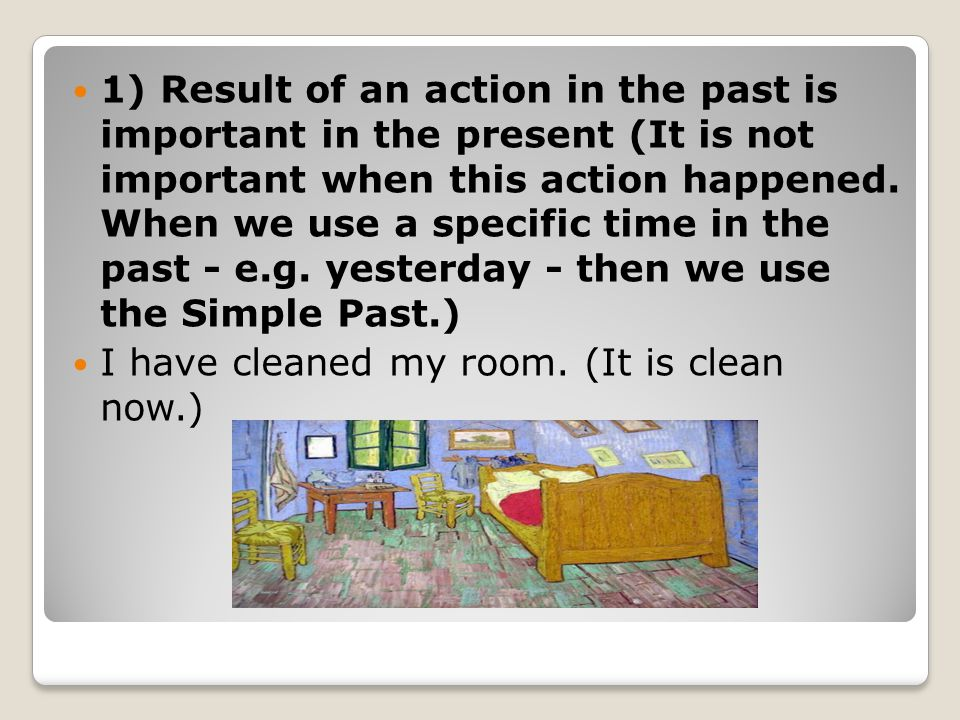Special verbs in the Present Perfect 1) have as a full verb affirmative sentence I, we, you, they: I have had a book.