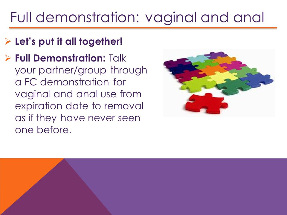 Full demonstration: vaginal and anal  Let's put it all together.