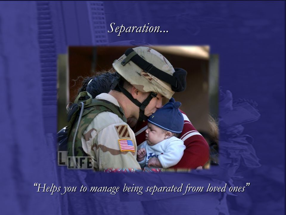 A Commitment to our families We fight and die…so our families don't have to….