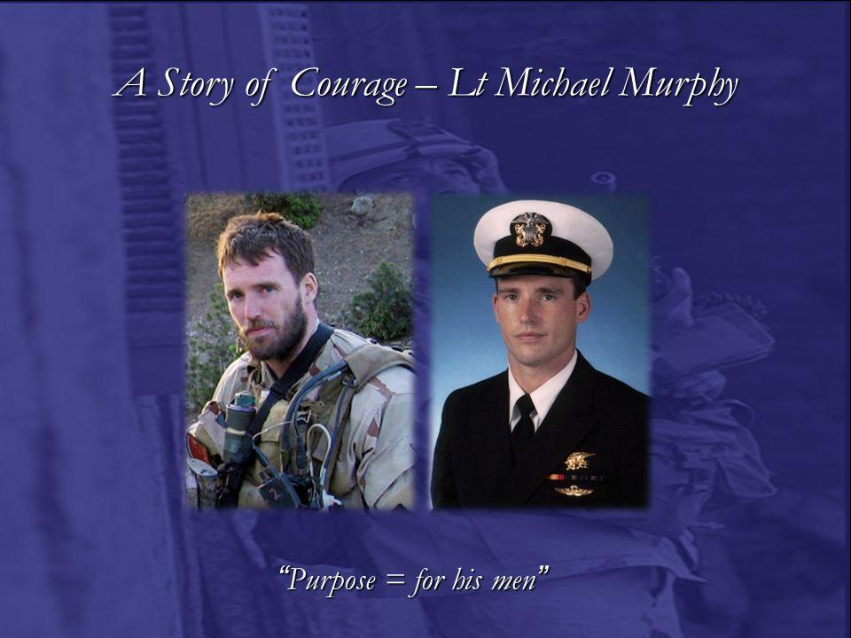 A Story of Courage – SFC Randall Shughart & MSG Gary Gordon Purpose = for a fallen comrade
