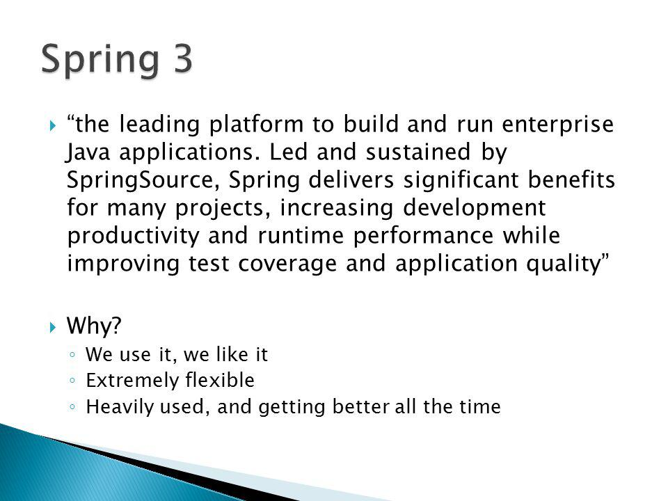  the leading platform to build and run enterprise Java applications.