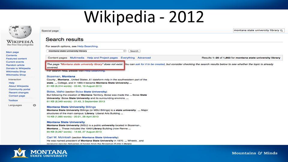 Wikipedia - 2012