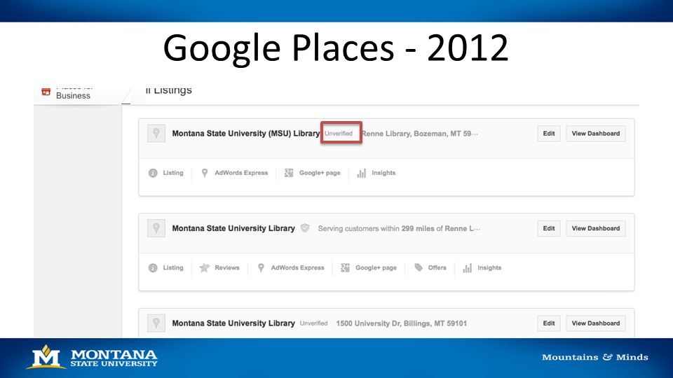 Google Places - 2012