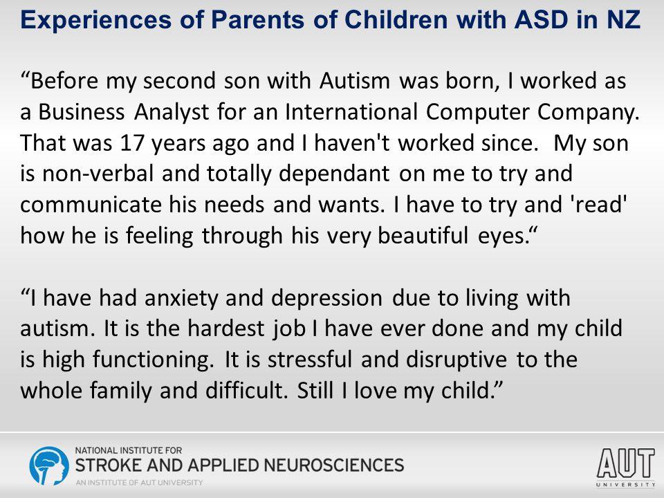 Autism Impact Measure Severity of ASD symptoms were measured using the AIM, developed by Kanne et al.