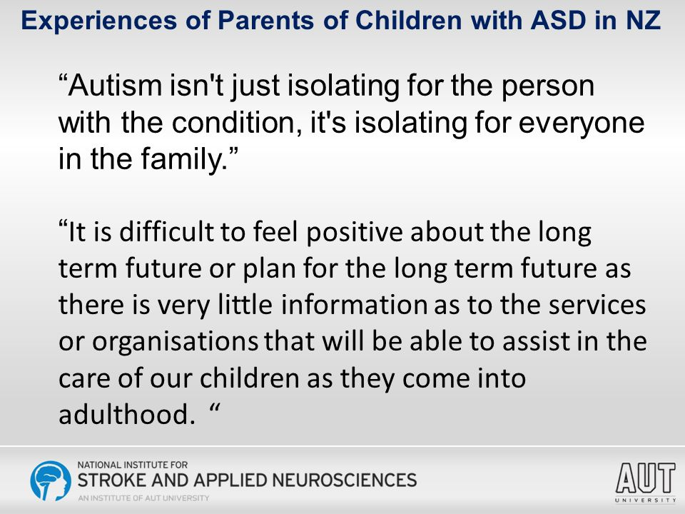 Experiences of Parents of Children with ASD in NZ Annual cost of raising a child in the US.